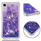 Everainy Coque Compatible pour iPhone XR Silicone 3D Paillettes Glitter Transparent...
