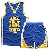 Angel ZYJ Maillots de Baloncesto para Niños- Conjunto Curry#30 Camiseta de Baloncesto Chaleco & Pantalones Cortos de Verano p