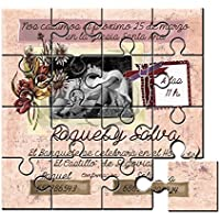 Invitación original para boda en puzzle con foto - Pack de 6 unidades