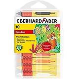 Eberhard Faber 521009 - Colori Wachsmalkreide in 10 leuchtenden Farben, mit Schiebehülse und Rutschbremse, wasserfest, in Kun