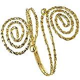 Tribal swirl-bead da donna in oro, con superficie ruvida, braccio regolabile molla elicoidale-Bracciale rigido