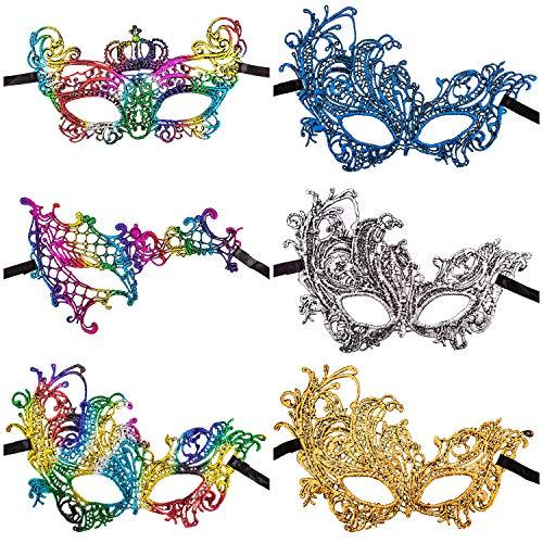 e Masquerade Mask Venezianische Maske Damen Spitze Maskerade Maske Maskenball Augenmaske für Party Ball Karneval ()