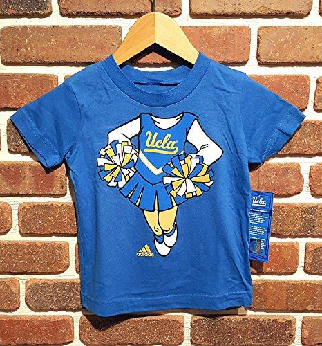 UCLA Adidas Kids S/S T-Shirt Royal Blau Mädchen Cheerleader Logo 4Parf, Mädchen, königsblau -