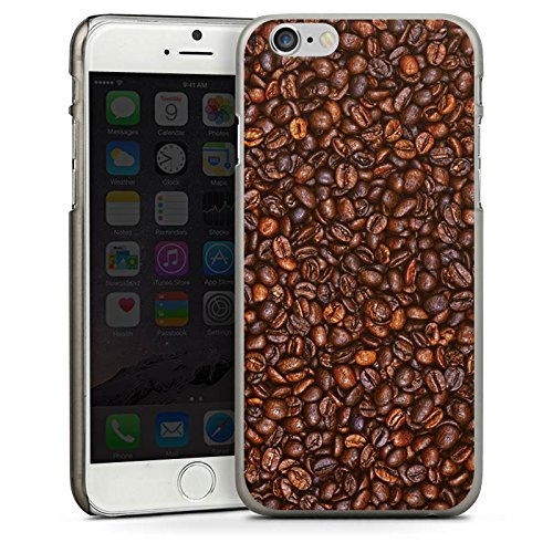 Apple iPhone 4 Housse Étui Silicone Coque Protection Café Haricots Café CasDur anthracite clair
