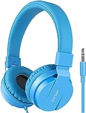 Gorsun Premium Kinderkopfhörer, Faltbare Kopfhörer für Kinder, Verstellbare Leicht-Kopfhörer für Jungen und Mädchen-Blau
