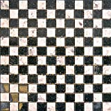 Granit Mosaik Galaxy Black / Kashmir white 2,3x2,3x0,8cm, 1 Tafel MOSAKO Fliesen