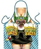 Bilderschürze - Oktoberfest Frau - witzige Frau mit Dirndl - Inkl. Urkunde als Geschenk