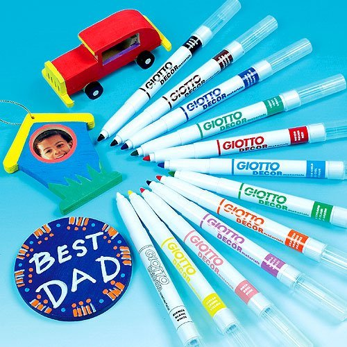 giotto-decor-pens-12-assorted-waterbased-colours-suitable-for-children-to-paint-on-most-surfacespack