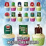 giftshop AK-Weihnachten, essbare Cupcake-/Kuchen-Deko (36Stück)