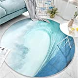 Round Area Rug, Floor Protector for Office and Home Desk Chairs Non-slip, Computer Chair Carpet, Shaggy Rug Living Bedroom De