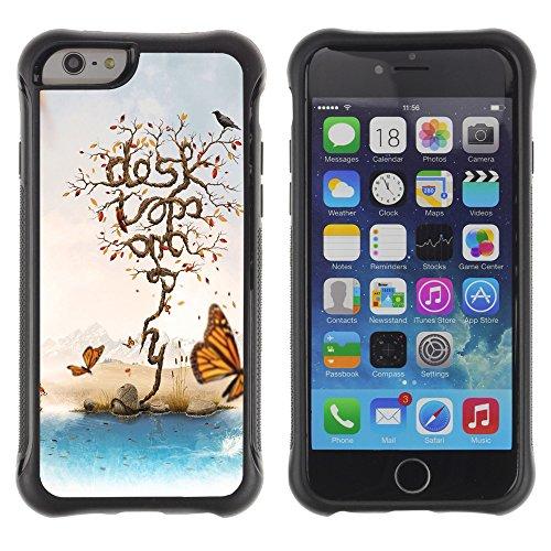 Graphic4You Miss you Butterfly Design Shockproof Anti-Rutsch Weichen Hülle Case Tasche Schutzhülle für Apple iPhone 6 Plus / 6S Plus Design #13