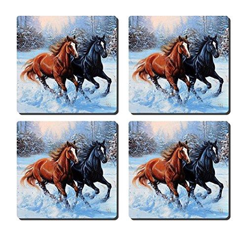 luxcase Design Colorful Horse Creative Küchengeschirr Kork Square Pad Matte Tischset Tisch oder in...
