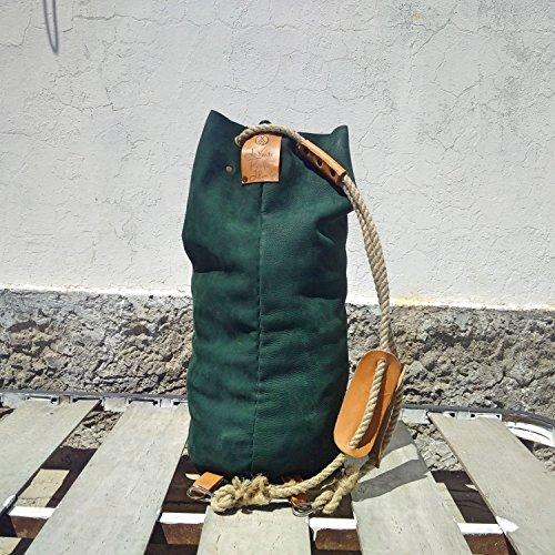 Seesack Männer Frauen TheWestlands Narbenleder Leder Tasche Koffer Labby Vintage Travel Reise gemacht in Italien Duffle Tasche (Reise-duffles Leder Duffle)