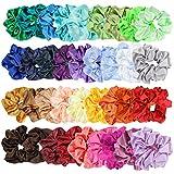 E-More 36 Piezas de Scrunchies de Pelo de satín Lazos Elásticos Banda de Pelo Coletero Elástico para Mujeres y Chicas, 36 Colores