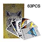 Wovemster Wovemster 63pcs Tarotkarten, Neue Und Interessante Tarotkarten Von Animal Spirit, Nicht wasserdichte Und Tragbare Karten, Zubehör Für Puzzlespiele