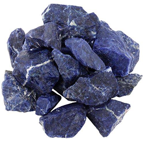 Shanxing Sodalith Rohsteine Edelsteine Wassersteine Dekoration Stein für Reiki Kristall Heilung ca.25-40mm,460 Gramm