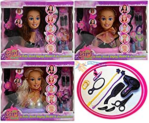 Doll Styling Head Hairdressing Model Play Set Hair Accessories Girls Beauty Toy