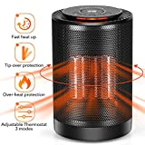 LONOVE Ceramic Heater - Portable PTC Space Heater for Office Bedroom Room Garage