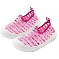 DEBAIJIA Chaussures pour Tout-Petits 1-4T Bébé Marche Enfants Baskets Rayures Semelle Souple Antidérapant Maille…