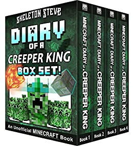 Diary of a Minecraft Creeper King BOX SET - 4 Book ...