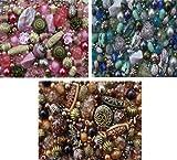 1200 x Auswahl von drei schönen farblich abgestimmten Schmuckherstellung Perlen für Schmuckherstellung Starter Mix Kit
