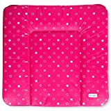 Wickeltischauflage Wickelauflage Wickelunterlage Sterne Babybett Baby 75x70cm weich Pink NEU