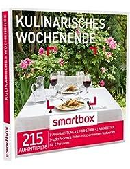 SMARTBOX - Geschenkbox - KULINARISCHES WOCHENENDE - 215 Aufenthalte: 1 Übernachtung mit Frühstück und Abendessen in 3* oder 4* Hotels