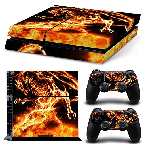 Zhaihaitf Multi-style Skin Vinyl Decal Cover per PlayStation 4 PS4 Console+Controllers