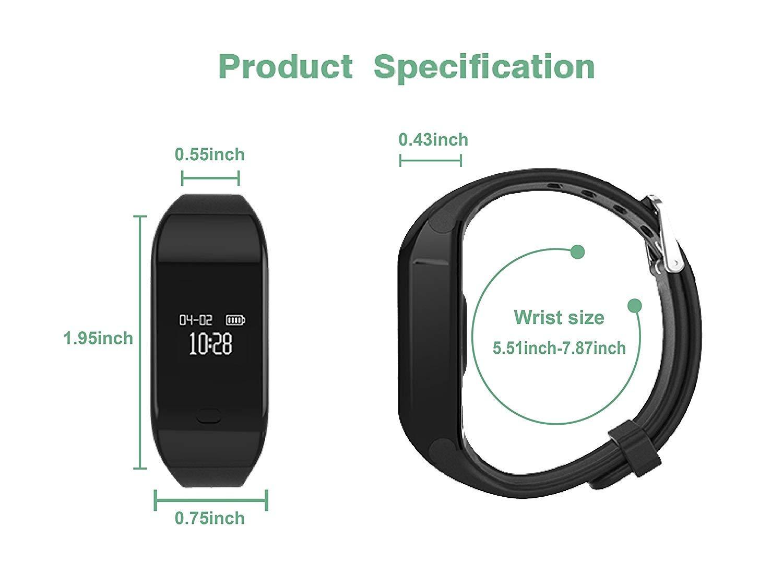Fitpolo Pulsera de Actividad,Reloj Inteligente para Hombre y Mujer, IP68 Impermeable Reloj Deportivo con Rtmo Cardíaco… 10