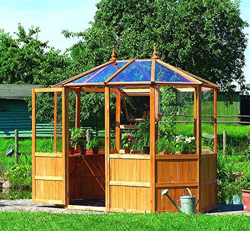 Gewächshaus CAPRI 1 - Gartenhaus 8-Eck 192x255x259 - Kiefer