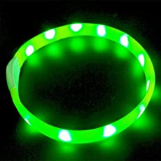 LaROO LED Hundehalsband Blinkende Sicherheit Hundehalsband für Hund und Katzen