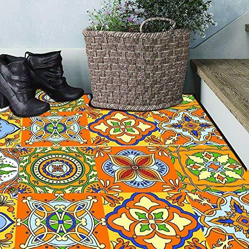 Farbe karierten Boden Aufkleber R76 3D Wandbilder PVC selbstklebende Wandaufkleber Tür/Treppe Aufkleber Wohnzimmer Küche Decals Home Decor