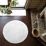 Shaggy-Teppich | Flauschiger Hochflor fürs Wohnzimmer, Schlafzimmer oder Kinderzimmer | einfarbig, schadstoffgeprüft, allergikergeeignet in Farbe: Weiss; Größe: 120 cm rund
