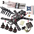 Rcmodelpart 250mm Mini Quad DIY FPV Quadcopter Kit + X1806S Motor OPTO 12A ESC +5030 Props + CC3D Flight controller by Rcmodelpart