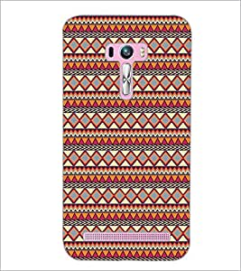 PrintDhaba Tribal Pattern D-5423 Back Case Cover for ASUS ZENFONE SELFIE ZD551KL (Multi-Coloured)