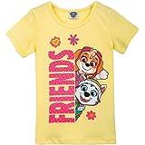 Paw Patrol Niña T-Shirt, Camiseta, Amarillo