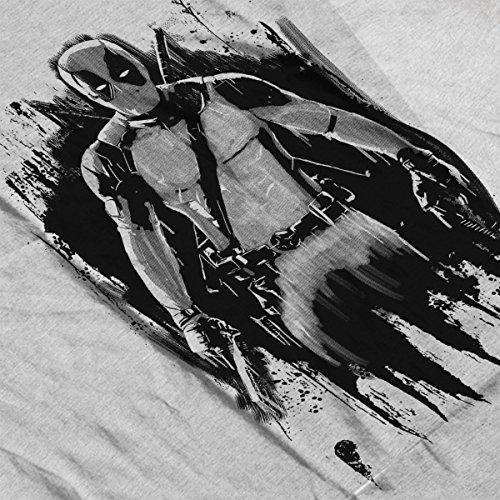Dead Ink Deadpool Men's Vest Heather Grey
