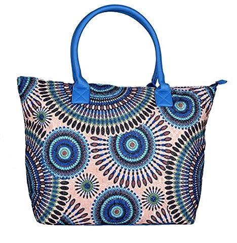 iwea , Cabas pour femme Bleu bleu 48x35x15 cm