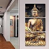 Raybre Art ATR-3 Goldene Buddha statue Leinwand Wandkunst Bild Gedruckt auf leinwand Malerei Moderne Kunstwerke Leinwand Kunst für Heimtextilien