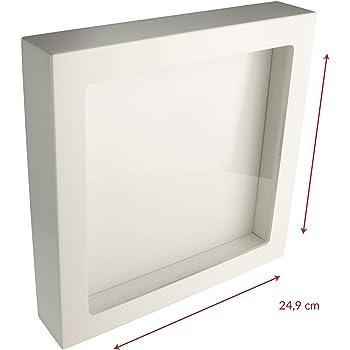 3d Bilderrahmen Zum Befullen Box Bilderrahmen Weiss Mit Glasscheibe