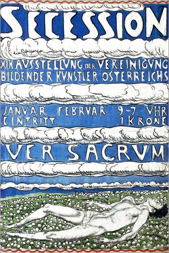 Posterlounge Forex-Platte 120 x 180 cm: Ausstellungsplakat Wien 1904 von Ferdinand Hodler/akg-Images