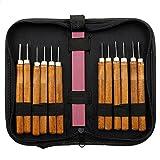 Schnitzen Holz Messer-Hand Stemmeisen Tools Kit für Tischler mit Whetstone