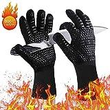 JHCtech Grillhandschuhe, Grill Ofenhandschuhe Grillhandschuhe Hitzebeständig bis zu 800 ° C/1472°F Kochhandschuhe für BBQ, Grill, Kochen, Backen, Schweißen(1 Paar)