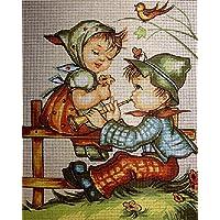 """Gobelin Stickbild Stickpackung """"Hummel"""" halber Kreuzstich 15x20cm. inkl. Sticktwist cod.1192"""