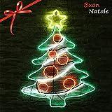 ICOCO Decorazione Natale Neon Lampada LED Albero Natale 69.5*88.5*16 cm