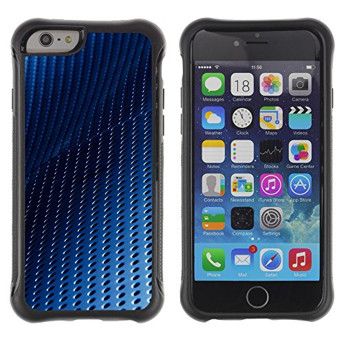 Graphic4You BLUE STRIPES Muster Shockproof Anti-Rutsch Weichen Hülle Case Tasche Schutzhülle für Apple iPhone 6 / 6S Design #8