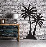 Vinilo Extraíble Pegatinas de Pared Calcomanía Mural Arte isla océano paraíso palma cocos