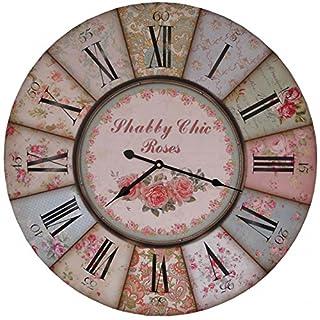 Antic Line - Wall clock Shabby Chic Roses