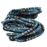 JOYfree Cotton Core Seil Handgemachte Seil Bunte Streifen Seil Dekorative Twisted Seil Hang Cord Kleidung Seil Geschenk DIY Verpackung Bindfäden Zubehör, Nein. 1 Farbe, Größe