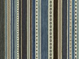 Landhaus Möbelstoff Kitzbühel Farbe 52 (blau, hellblau, beige, braun) - modernes Chenille-Flachgewebe (gemustert, gestreift) Polsterstoff, Stoff, Bezugsstoff, Eckbank, Couch, Sessel, Hussen, Kissen